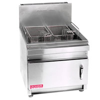Cecilware GF-28 28 lb. Countertop Gas Fryer with Baskets