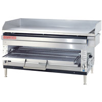 Cecilware HDB2042 42 inch Combination Gas Griddle and Cheese Melter with Adjustable Rack - 80,000 / 90,000 BTU
