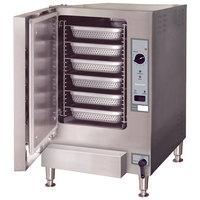 Cleveland 22CGT6.1 SteamChef 6 SST 6 Pan Gas Countertop Steamer - 32,000 BTU