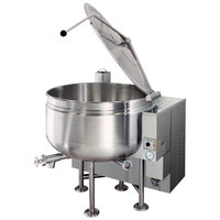 Cleveland KGL-40-SH Short Series 40 Gallon Stationary Full Steam Jacketed Gas Kettle - 190,000 BTU
