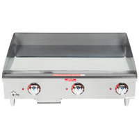 Star Max 536CHSF 36 inch Countertop Electric Griddle with Chrome Plate and Snap Action Thermostatic Controls - 12000W