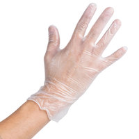 Noble Products Large Powdered Disposable Vinyl Gloves for Foodservice
