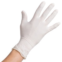 Noble Products Large Powdered Disposable Latex Gloves for Foodservice