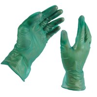 Medium Disposable Vinyl Glove for General Purpose 6.5 Mil - Green