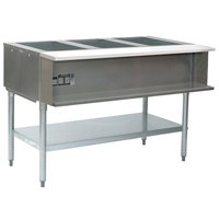 Eagle Group AWT4 Four Pan Water Bath Gas Steam Table - Sealed Well