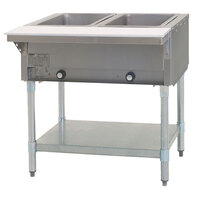 Eagle Group DHT2 Open Well Two Pan Electric Hot Food Table