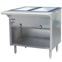 Eagle Group HT2OB Steam Table with Enclosed Base 7000 BTU - Two Pan - Open Well