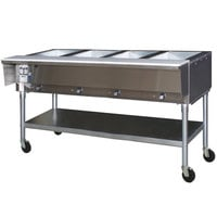 Eagle Group SPDHT4 Portable Hot Food Table Four Pan - All Stainless Steel - Open Well
