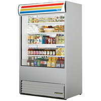 True TAC-48-LD Stainless Steel Vertical Air Curtain Refrigerator - 34 Cu. Ft.