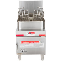 Star Max 615FF 15 lb. Gas Countertop Fryer - 30,000 BTU
