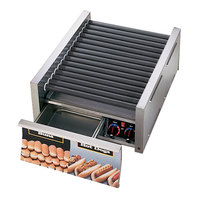 Star Grill Max 75SCBD 75 Hot Dog Roller Grill with Duratec Non-Stick Rollers and Bun Drawer