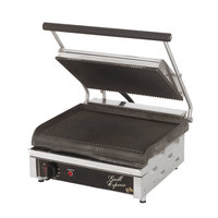 Star GX14IG 14 inchx 10 inch Grill Express Heavy Duty Grooved Top & Bottom Panini Grill