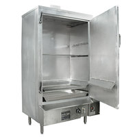 Town SM-36-R-SS Indoor 36 inch Stainless Steel Smokehouse with Right Door Hinges - 75,000 BTU