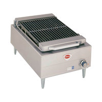 Wells B-44 20 inch Stainless Steel Electric Charbroiler with One Control Knob - 5400W