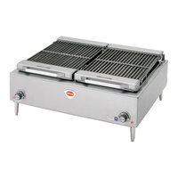 Wells B-50 36 inch Stainless Steel Electric Charbroiler - 10800W