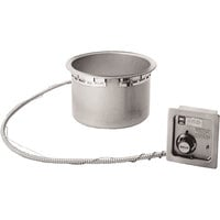 Wells HW-106D 11 Qt. Round Drop-In Soup Well with Drain - Top Mount