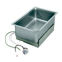 Wells SS206ED Drop-In Rectangular Hot Food Well with Drain- Bottom Mount, Infinite Control