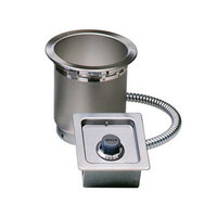 Wells SS4TDU 4 Qt. Round Drop-In Soup Well with Drain - Top Mount, Thermostatic Control
