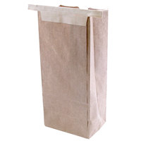 3 lb. Brown Customizable Paper Coffee Bag Tin Tie Recloseable 25 / Pack
