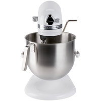 KitchenAid KSM8990WH White NSF 8 Qt. Bowl Lift Commercial Countertop Mixer - 120V, 1 3/10 hp