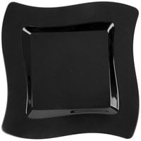 Fineline Wavetrends 106-BK 6 1/2 inch Black Plastic Square Plate - 10/Pack