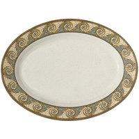 GET OP-618-MO Mosaic Oval Platter - 12/Pack