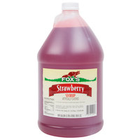 Fox's 1 Gallon Strawberry Syrup - 4/Case