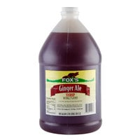 Fox's 1 Gallon Ginger Ale Syrup - 4/Case