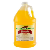 Fox's Pineapple Syrup - (4) 1 Gallon Containers / Case