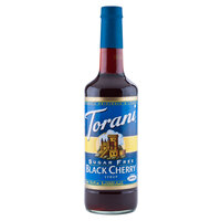 Torani 750 mL Sugar Free Black Cherry Flavoring Syrup