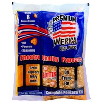 Great Western Premium America All-In-One Popcorn Kit for 8 oz. to 10 oz. Popper - 24/Case
