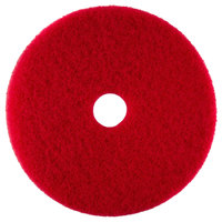 Scrubble by ACS 51-10 Type 55 10 inch Red Buffing Floor Pad - 5 / Case