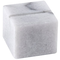 American Metalcraft MCHW125 1 inch White Marble Card Holder