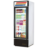 True GDM-23-LD White Glass Door Refrigerated Merchandiser with LED Lighting and White Trim - 23 Cu. Ft.