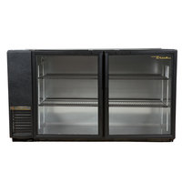 True TBB-24GAL-60G-LD 60 inch Glass Door Back Bar Refrigerator with Galvanized Top and LED Lighting - 24 inch Deep