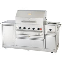 Crown Verity CV-MBI-80 34 inch x 21 inch Island Grill with Side Burner