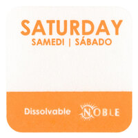 Noble Products Saturday 1 inch Dissolvable Day of the Week Dot Label- 1000 / Roll