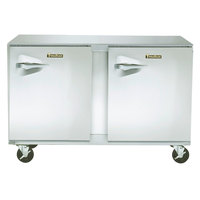 Traulsen ULT48-RR-SB 48 inch Undercounter Freezer with Right Hinged Doors and Stainless Steel Back - 13.1 Cu. Ft.