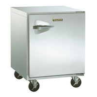 Traulsen ULT27-R-SB 27 inch Undercounter Freezer with Right Hinged Door and Stainless Steel Back - 7.1 Cu. Ft.