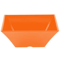 Tablecraft MB125X Frostone 6.8 Qt. Orange Square Melamine Bowl