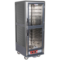 Metro C539-HDC-U-GY C5 3 Series Heated Holding Cabinet with Clear Dutch Doors - Gray
