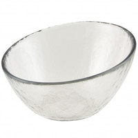 10 Strawberry Street HAG-3BWL Hammered Glass 3 3/4 inch Angled Bowl - 72 / Case