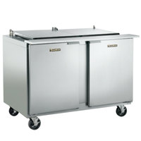 Traulsen UPT7224-LR 72 inch Sandwich / Salad Prep Table with Left / Right Hinged Doors