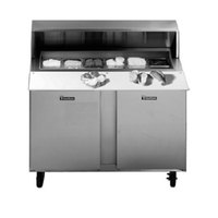 Traulsen UPT7218-RR-SB 72 inch Sandwich / Salad Prep Table with Right / Right Hinged Doors and Stainless Steel Back