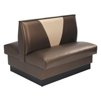 American Tables & Seating AD-42VN-D Double Deuce V Shape Back Booth - 42 inch High