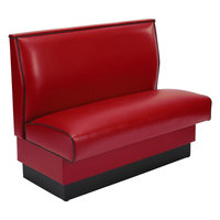 American Tables & Seating AS-42 Plain Single Back Fully Upholstered Booth - 42 inch High