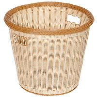 GET WB-1523-TT Designer Polyweave Plastic Round Basket 17 inch x 14 1/2 inch - 6 / Pack