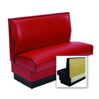 American Tables & Seating AS-42-Wall Plain Fully Upholstered Wall Bench - 42 inch High