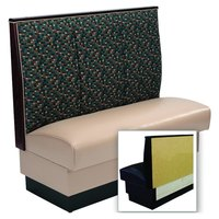 American Tables & Seating AS-483-Wall 3 Channel Back Upholstered Wall Bench - 48 inch High