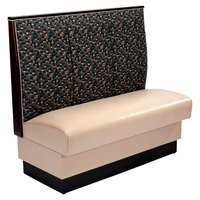 American Tables & Seating AS-483-D Single Deuce 3 Channel Back Upholstered Booth - 48 inch High